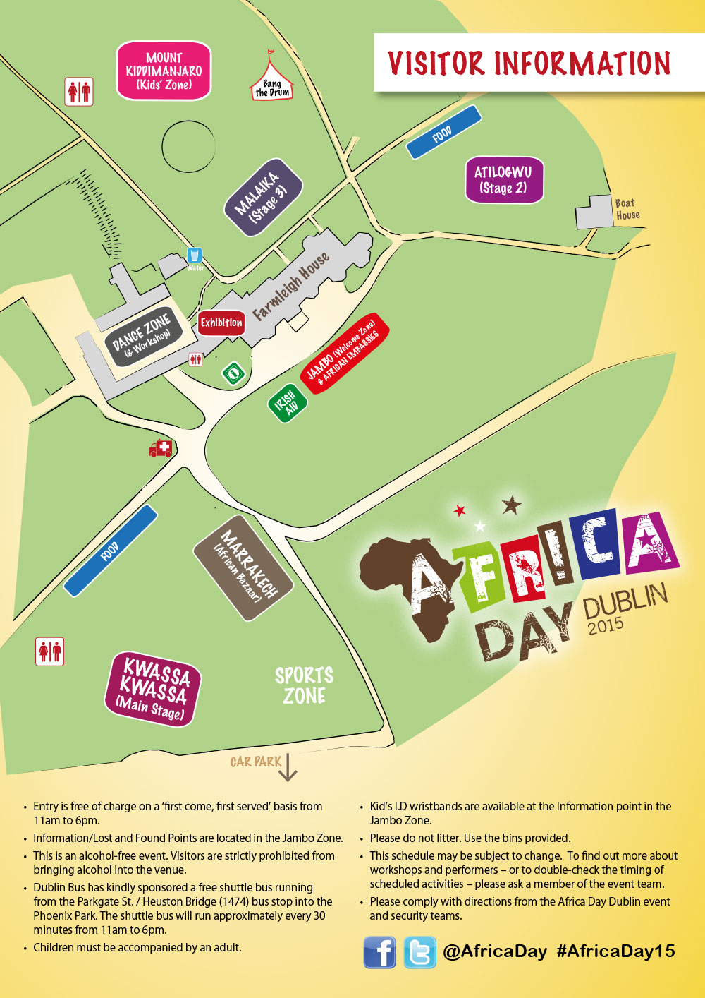Kid Map Of Africa.Dublin Ad 2015 A4 Map Africa Day Ireland