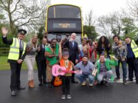 NO REPRO FEE 11/5/2016 Pictured today at the launch of Africa Day 2016, which is supported by Irish Aid at the Department of Foreign Affairs, were Minister for Foreign Affairs and Trade, Charlie Flanagan TD, centre, with Michael Yohannes, 3rd from left,, General Manager Ethiopian Airlines, Dublin Bus members, performers, and Miss Africa Ireland Chanceline Kangayan, to right of Minister Flanagan. Irish Aid's flagship Africa Day event will take place in the grounds of Farmleigh Estate, Dublin on Sunday the 29th May. The free event will run from 11am to 6pm and all will see will see free live music performances on three stages with Kila, Ajo Arkestra, Feather, Sidiki Dembele Sextet, Jafaris and many more. There will also be a dedicated 'kidzone' and African Bazaar offering traditional African drumming and dance workshops, hair-braiding, storytelling and face-painting. Dublin Bus will provide a free shuttle-bus service from the Heuston Bridge / Parkgate Street bus stop into the Phoenix Park. Ethiopian Airlines has come on board as a sponsor of the 'Mount Kiddimanjaro' children's area. Africa Day events will also take place in other locations across Ireland (including Cork, Galway, Limerick and Waterford) in the week leading up to 29th May. For further information on Africa Day please visit www.africaday.ie. Photo: Mark Stedman/Photocall Ireland
